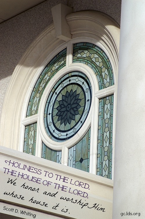 View of window at Orlando LDS Temple